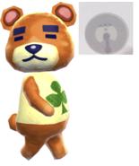 Animal Crossing New Horizons Teddy No. 161 Amiibo NFC Tag  - $7.42