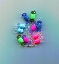 crystal drops charms barrel bead pendants acrylic plastic beads 10 piece... - $2.50