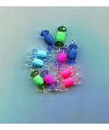 crystal drops charms barrel bead pendants acrylic plastic beads 10 piece... - $2.50