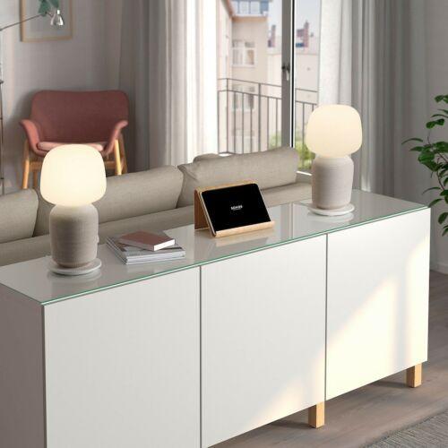 SYMFONISK Table lamp with WiFi speaker, white image 2
