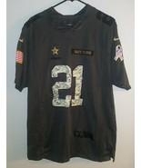Nike NFL On Field Salute to Service Jersey Dallas Cowboys Elliott 21 SZ ... - $59.39