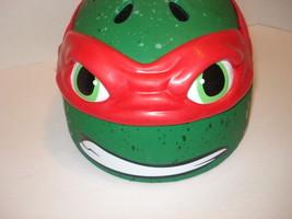 TMNT Raphael Green Bike Helmet with Red Mask Plastic  Size S - $8.91