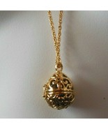 Joan Rivers Gold-tone Black Egg Locket Pendant Necklace - $47.52