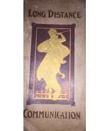Long-Distance Communication Vintage Antique book Detroit Michigan VERY O... - $186.99