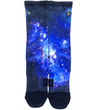 Custom Blue Galaxy Socks ALL Sizes FAST SHIPPING - $12.99