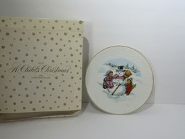 """1986 Avon A Child's Christmas Porcelain 8"""" Plate Trimmed in 22K Gold - $23.71"""