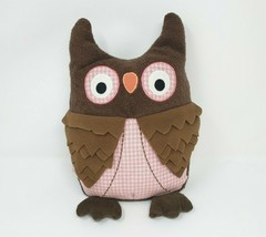 "12"" TOYS R US 2011 GEOFFREY BABY BROWN & PINK OWL STUFFED ANIMAL PLUSH T... - $34.64"
