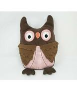 "12"" TOYS R US 2011 GEOFFREY BABY BROWN & PINK OWL STUFFED ANIMAL PLUSH T... - $36.47"