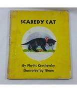 Scaredy Cat 1959 Childrens Vintage Book Phyllis Krasilovsky 1st Print Ha... - $44.99