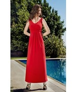 A-Line Sleeveless Red Tyger Maxi Dress by Colletta - NOW 50% OFF!!! - $57.90