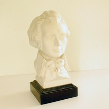Vintage Porcelain Bust of Wolfgang Amadeus Mozart on Black Plinth - $19.80