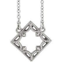 Vintage-Inspired Geometric Necklace In Sterling Silver image 1