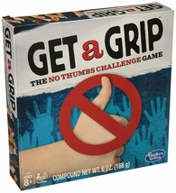 Get a Grip Game, The No Thumbs Challenge Game by Hasbro Ages 8+ Family Game - $8.77