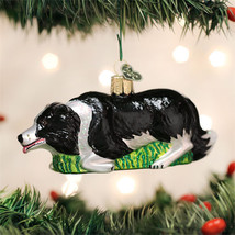 Border Collie Herding Glass Ornament - $19.95