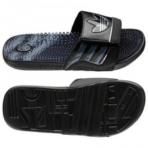 Adidas Youth Trefoilssage slides Black Color Shoes New in Box - $29.99