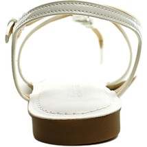 Michael Kors Women's Premium Designer Bethany Leather Sandals White image 2