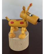 Petra Toy Yellow Wood Dog Czech - $14.03