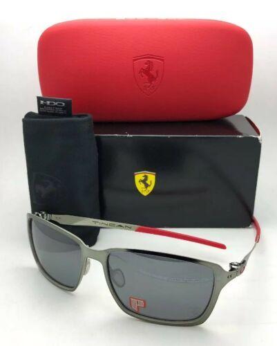 Polarized OAKLEY Sunglasses Scuderia FERRARI TINCAN OO4082-09 Black Chrome & Red