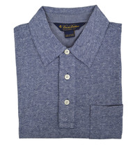 Brooks Brothers Mens Blue Striped Diamond Soft Knit Polo Shirt Small S 3203-4 - $55.07