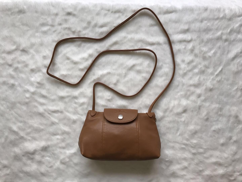 d5666e57fb 226 1. 226 1. Previous. France Made Longchamp Le Pliage Cuir Crossbody Bag  Brown · France Made Longchamp Le ...
