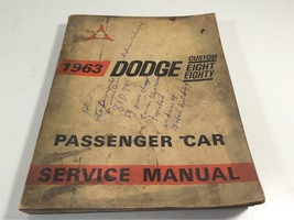 1963 Dodge Custom Eight Eighty Passenger Car Service Manual OEM Original - $29.99