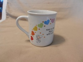 Have a Day filled With Rainbows, Love White Ceramic Coffee Cup from Hall... - $14.84
