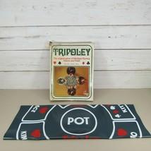 Tripoley Cadaco Green Vinyl Mat Deluxe Layout Poker Hearts No 111 Vintag... - $18.78
