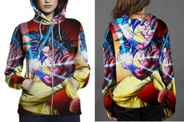 Hoodie Zipper womens Super Saiyan 4 Son Goku - $46.70+