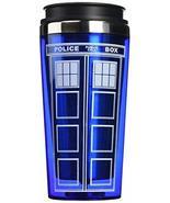 """Bif Bang Pow!""""Doctor Who TARDIS"""" Travel Mug, 16 oz, Blue - ₹850.65 INR"""