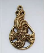 Fairytale rooster - a bronze pendant, rooster figurine, metal keychain, ... - $7.00