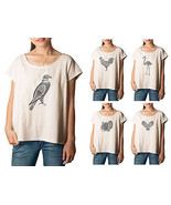 Birds In Graphic Style Printed 100% Cotton Fash... - $15.99