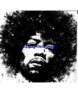 JIMI HENDRIX-NEW RELEASE! NEW mounted rubber stamp