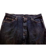 Men's Wranglers Jeans Dark Wash Straight Leg Size 40 x 32 100% Cotton - $21.66