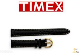 Timex Q7B876 Original 14mm Damen Schwarz Kalbsleder Leder Uhr Band W/ 2 ... - $16.44