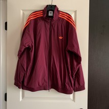 NWT ADIDAS Wine Zip Front Men's Windbreaker SZ XL - $49.50