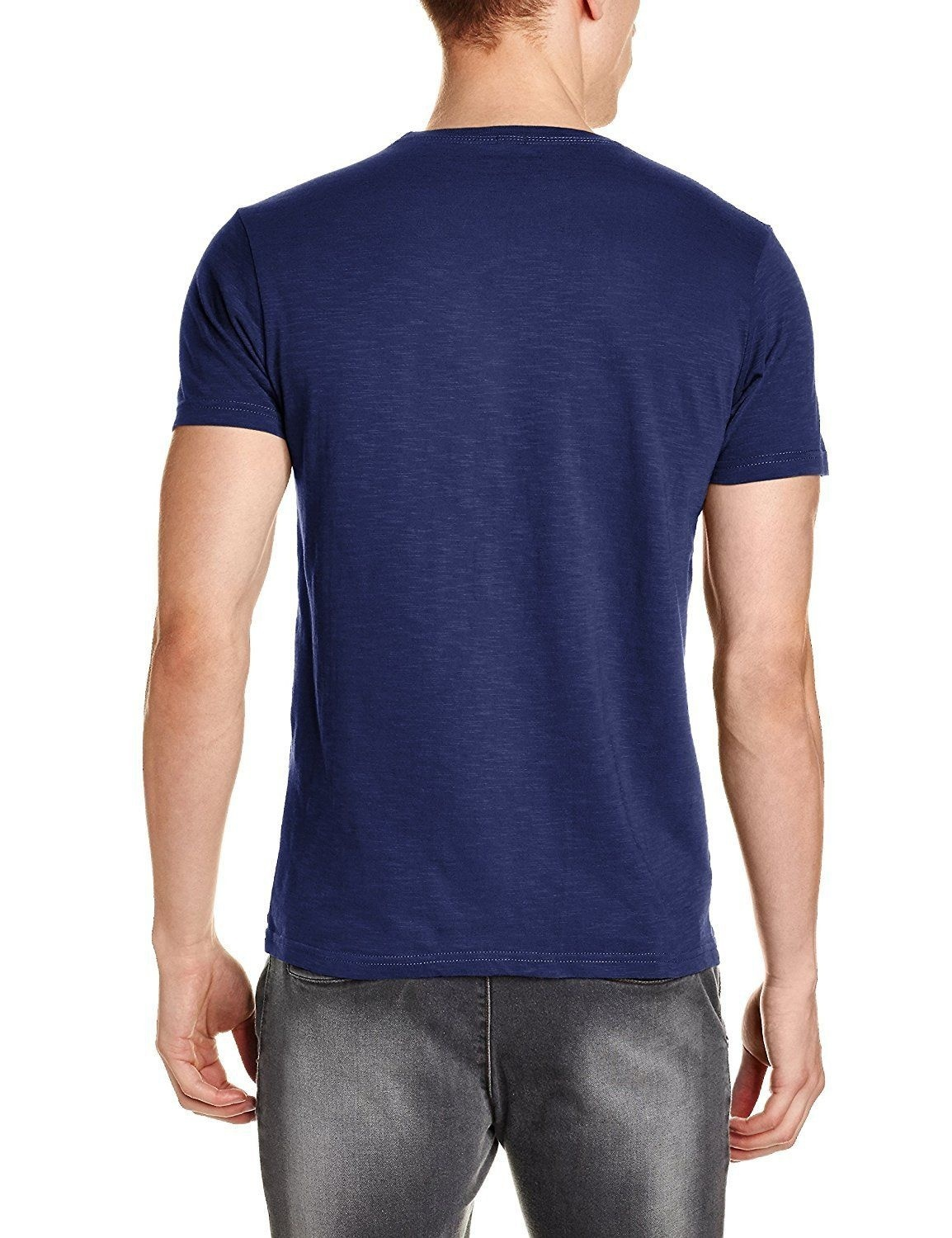 Nwt Jeans Men's Navy Pepe Printed Slim Fit Round Neck Cotton T-shirt Men Cotton