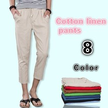 The new summer mens pants men loose linen pants casual pants - $31.62