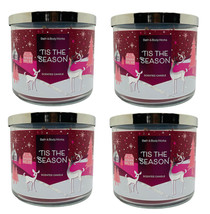 4 Bath & Body Works 'TIS THE SEASON 2020 Large Scented 3 Wick Candles 14.5 oz - $65.06