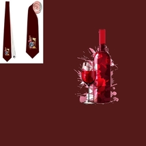 necktie bottle of wine  romantics  specialist esthete connoisseur  tietie - $22.00