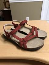 Teva Ventura 6389 Cork Leather Women's Sandals Size 11 Strappy Red - $31.48