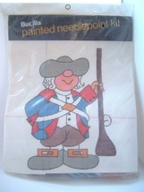 Vintage Bucilla Painted Needlepoint Kit No. 4692 Patriot Soldier Colonial - $14.80