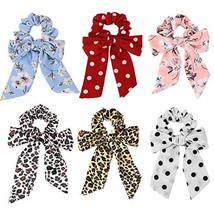 Ondder 6 Hair Scrunchies for Women, Bow Scrunchies for Hair Scrunchies f... - $9.93