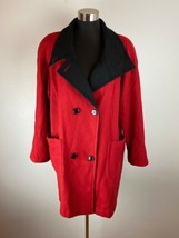 Beau Brem Womens Coat Red Wool Blend Made in USA - $98.99
