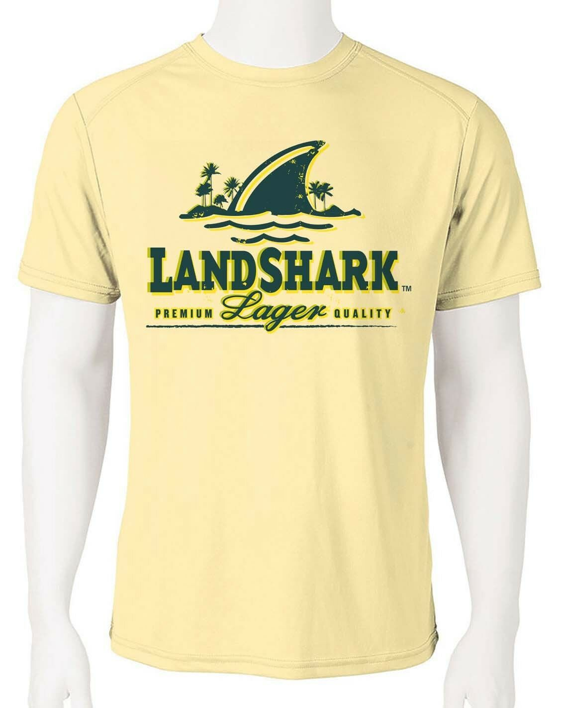 Landshark Dri Fit graphic T-shirt moisture wicking beach beer fishing SPF tee