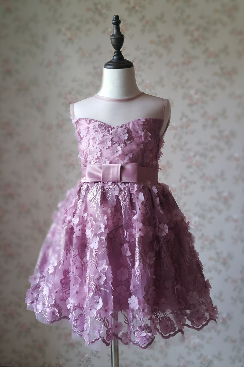 Ball Gown Knee-length Flower Girl Dress -Satin/Tulle Sleeveless Scoop Neck 4-16