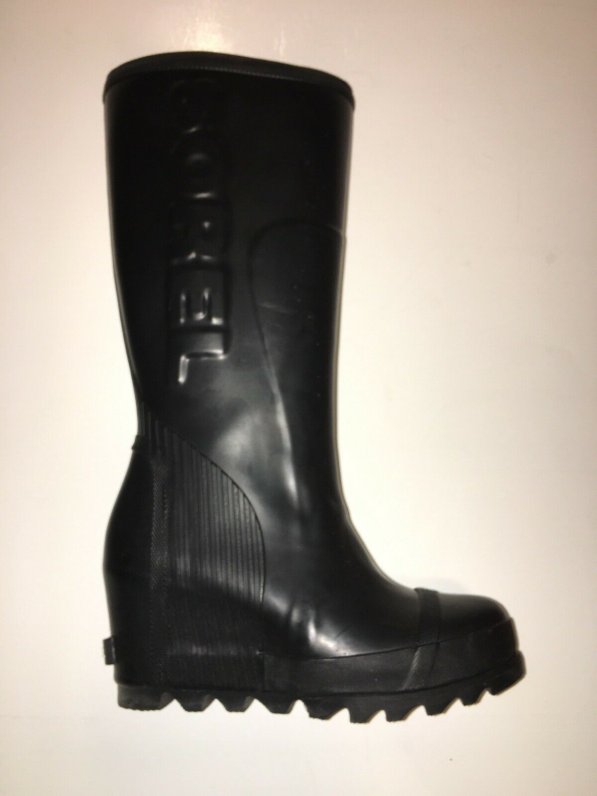 Primary image for Sorel Joan Wedge Rain Tall Black Boot Women's Shoe USA Size 6