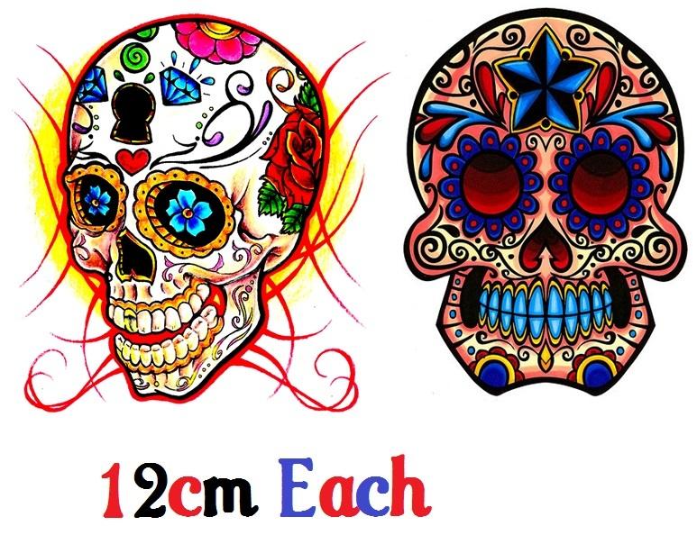Sugar Skull C3 Day Of The Dead  Temporary Tattoos Día de Muertos - $11.00