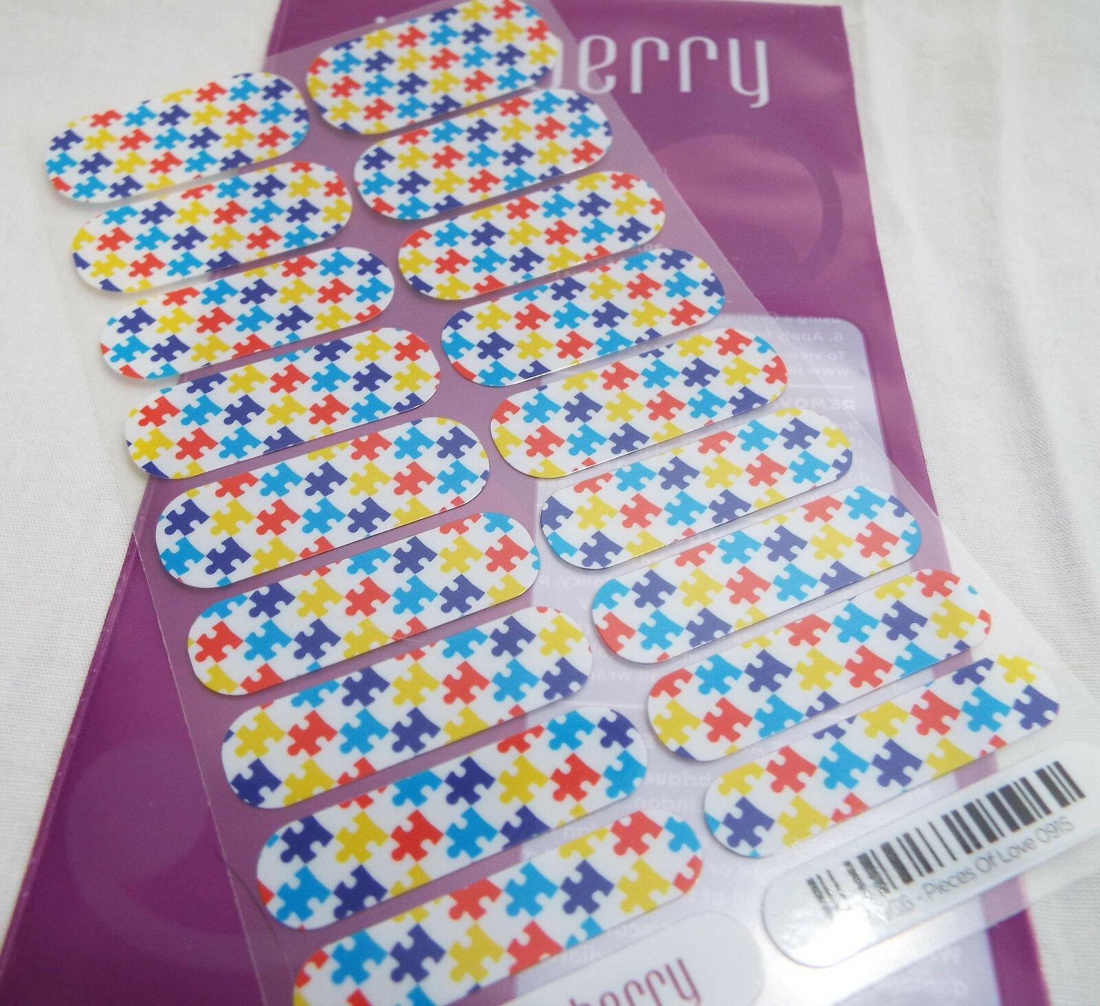 Jamberry Pièces de Love Charité 69C6 Ongles Enveloppe Feuille Complète