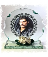 Freddie Mercury Photo Cut Glass Round Plaque Frame Memories Limited Edit... - $33.65