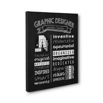 Personalized Graphic Designer Wall Art Canvas Gallery Wrap – Graduation ... - $28.22